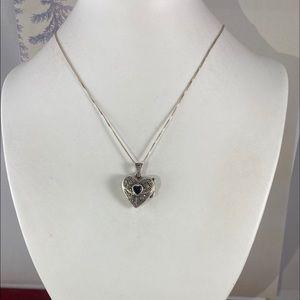 Vintage 925 Silver Heart Locket 18 in 925 chain